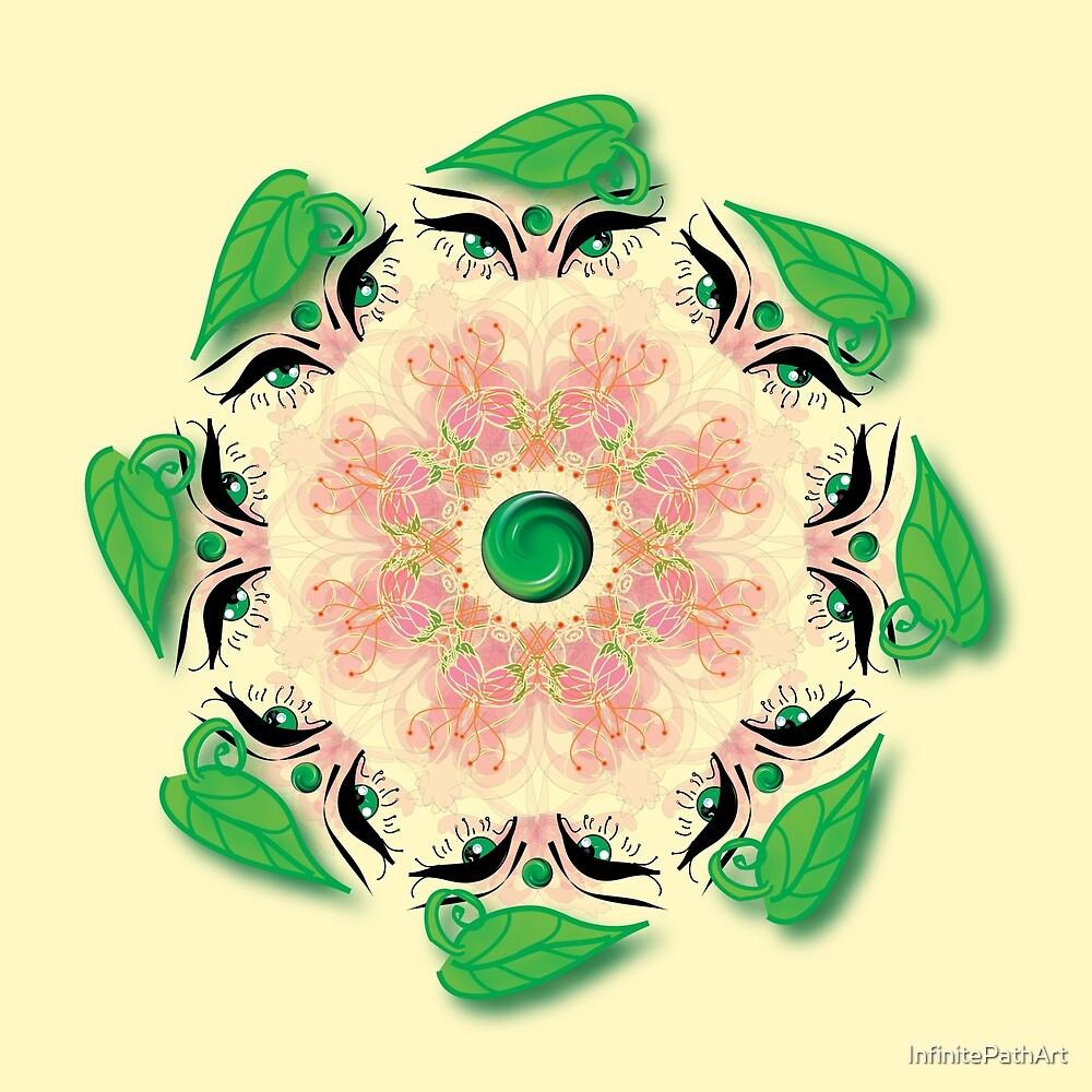 Rotating Flowers by InfinitePathArt