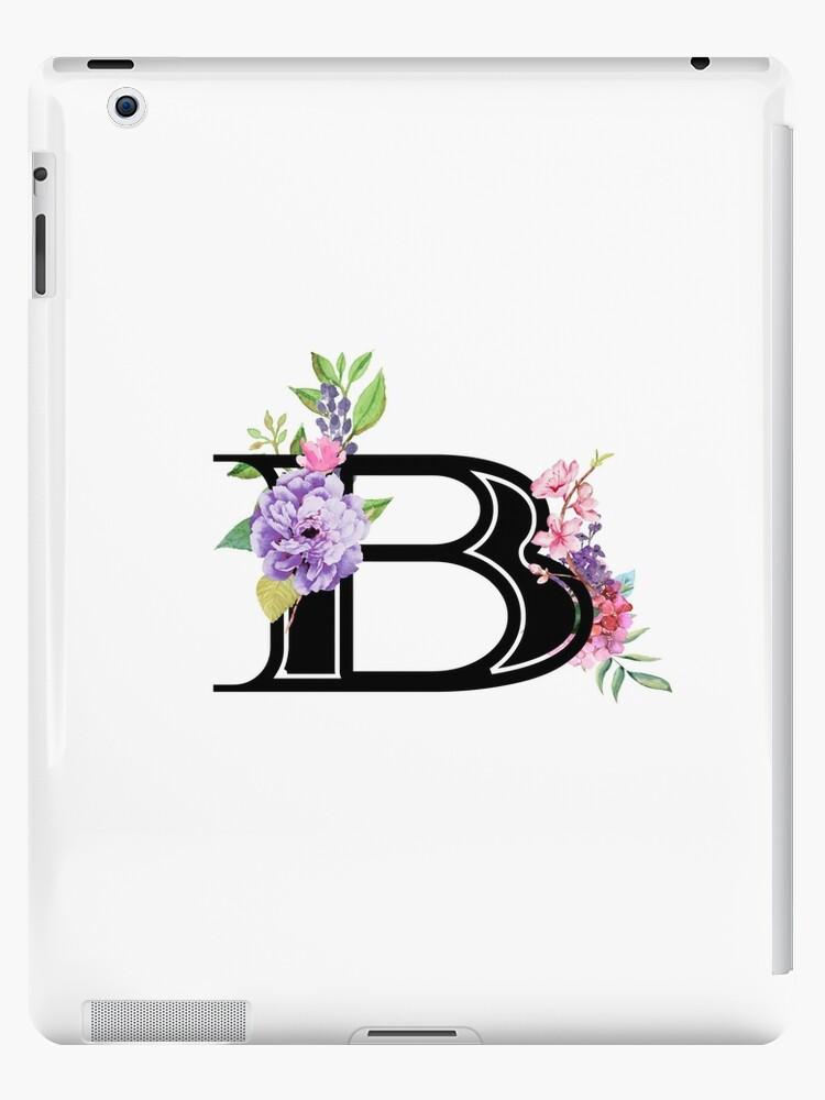 ffb8b080014e0 'Pretty Pastel Watercolor Floral Letter B' iPad Case/Skin by Grafixmom