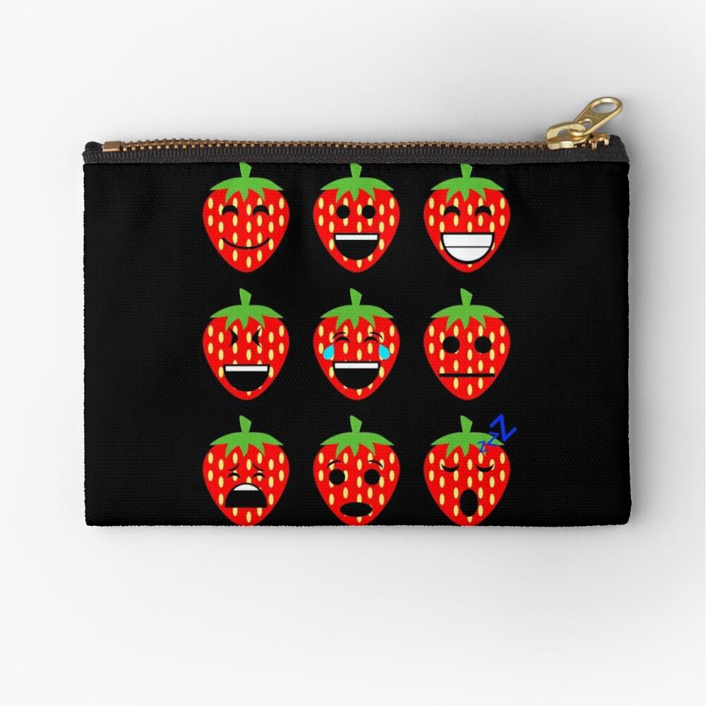 Erdbeere Emojis Täschchen