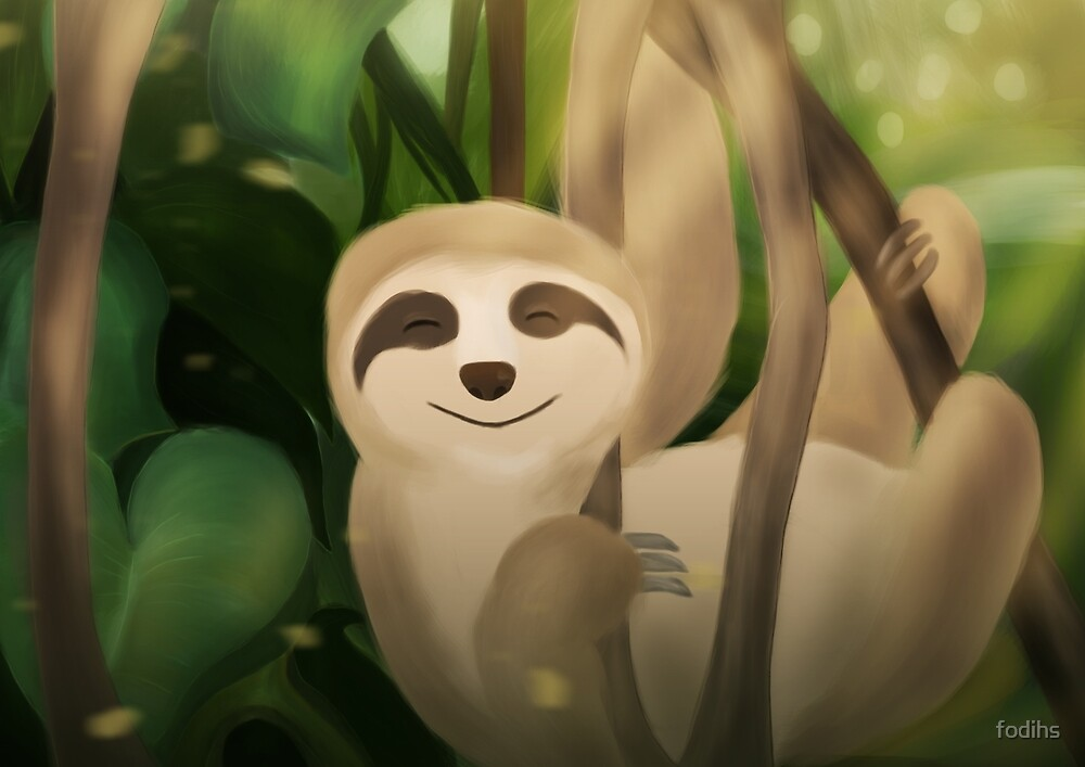Relaxed Sloth by fodihs