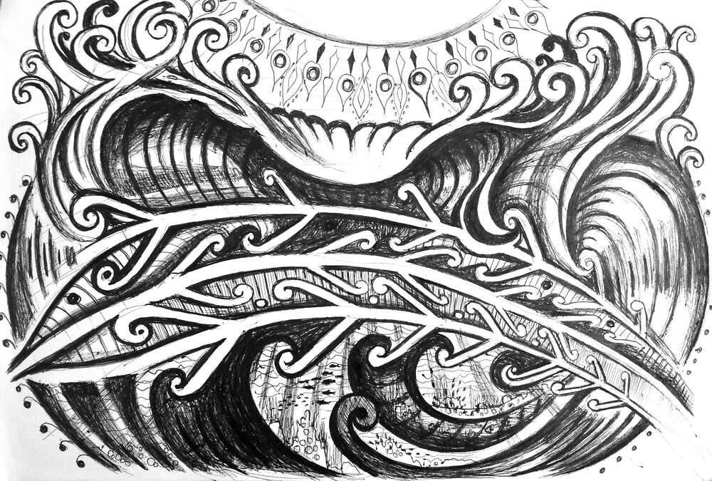 Tribal Wave by Milca Severo