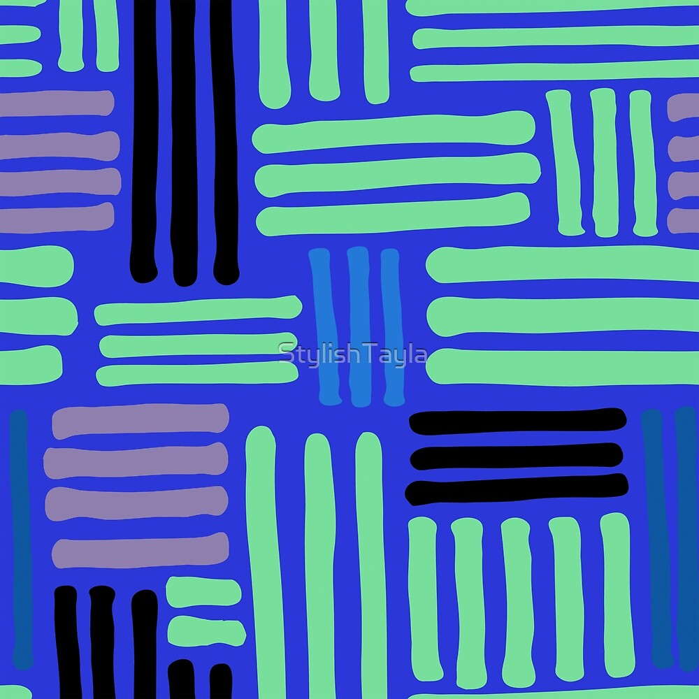 Colourful Stripes Pattern by Tayla Williams