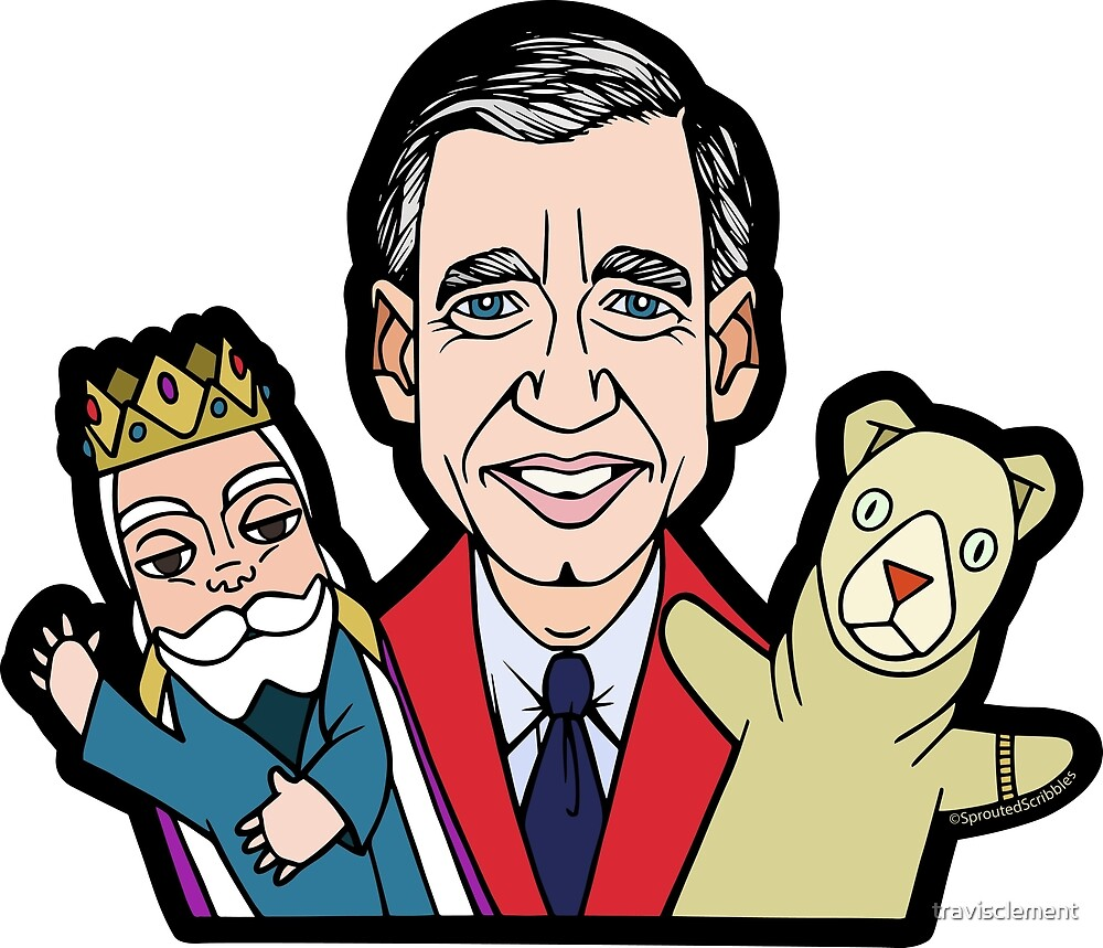 Mister Rogers with Puppets by travisclement