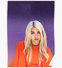 Hayley Kiyoko purple galaxy  Poster