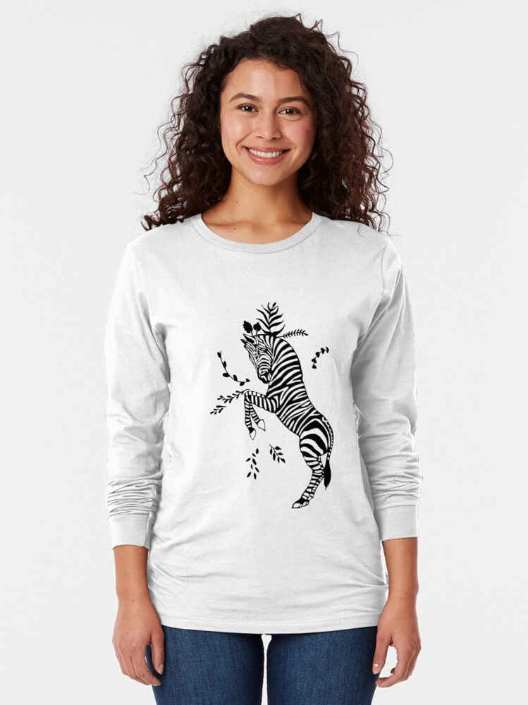 Alternate view of Zebra Long Sleeve T-Shirt