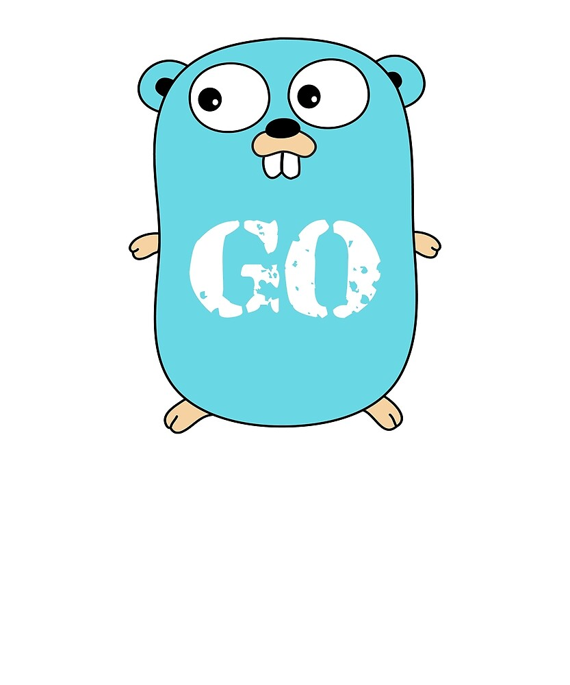 Go Logo T-Shirt Blue Mascot Transparent Word Text by Rainwater Merch