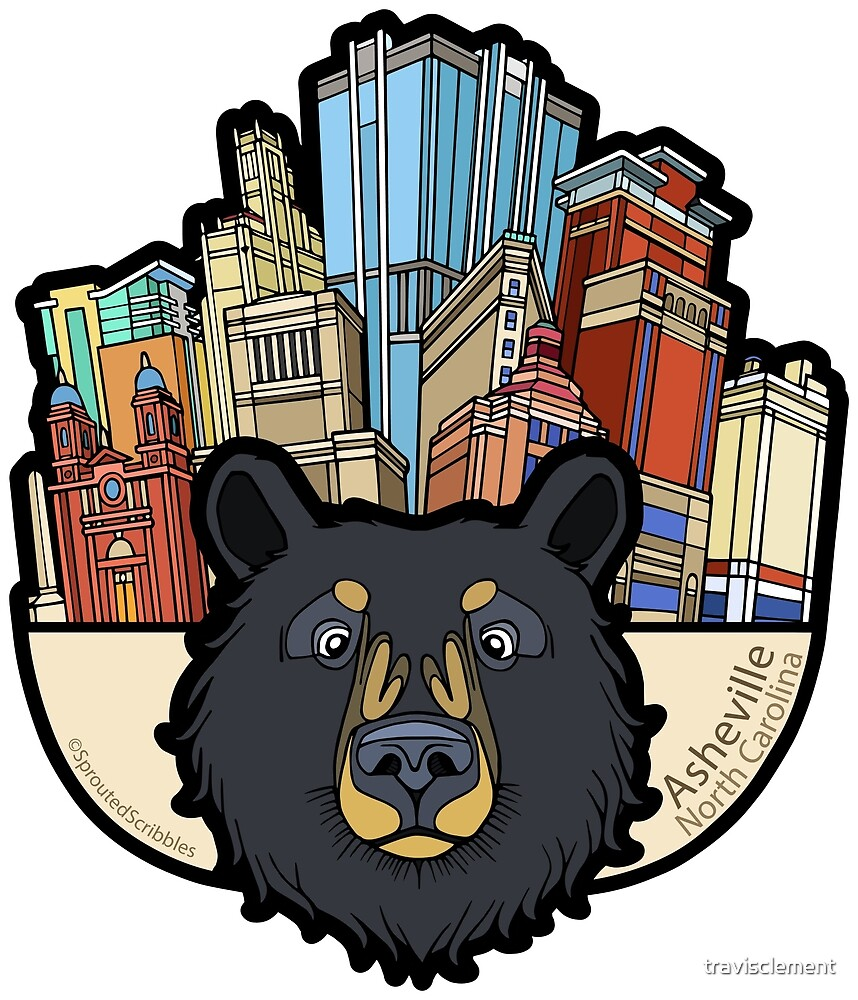 Asheville City Bear - North Carolina by travisclement
