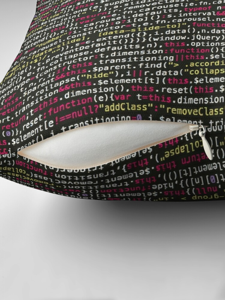 Alternate view of COMPUTER CODE Pop Art Floor Pillow