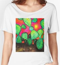 Prickly Pear Cactus Women's Relaxed Fit T-Shirt