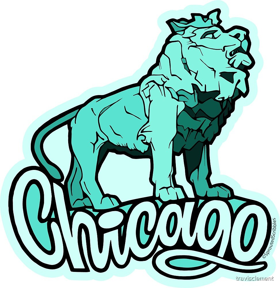 Chicago Art Lion by travisclement