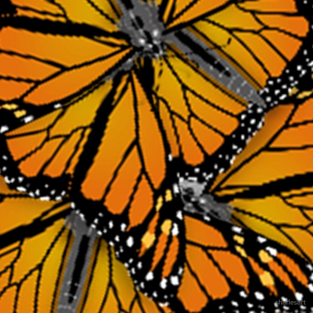 MONARCH BUTTERFLIES MONTAGE by sharlesart