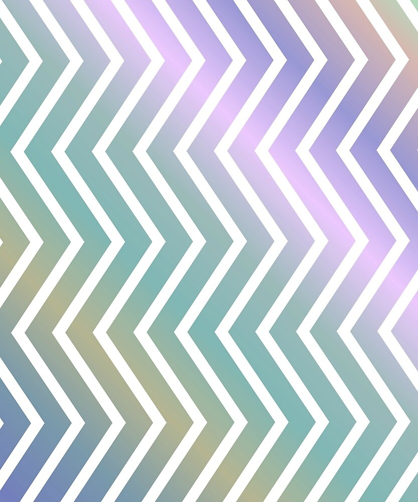 Pastel Color Stripes Zigzag Pattern by tikasdes