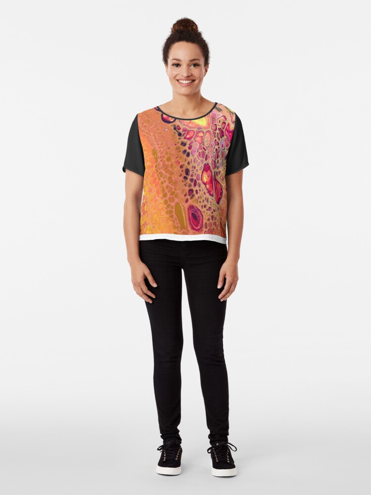 Alternate view of Yellow and Pink: Make it Terry Chiffon Top