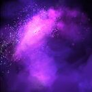 Purple Nebula Space Cosmo by nykiway