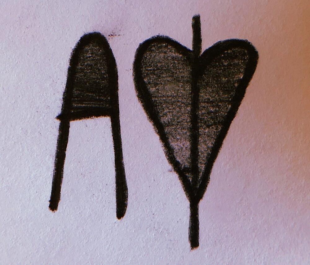 A heart O by Chloe M