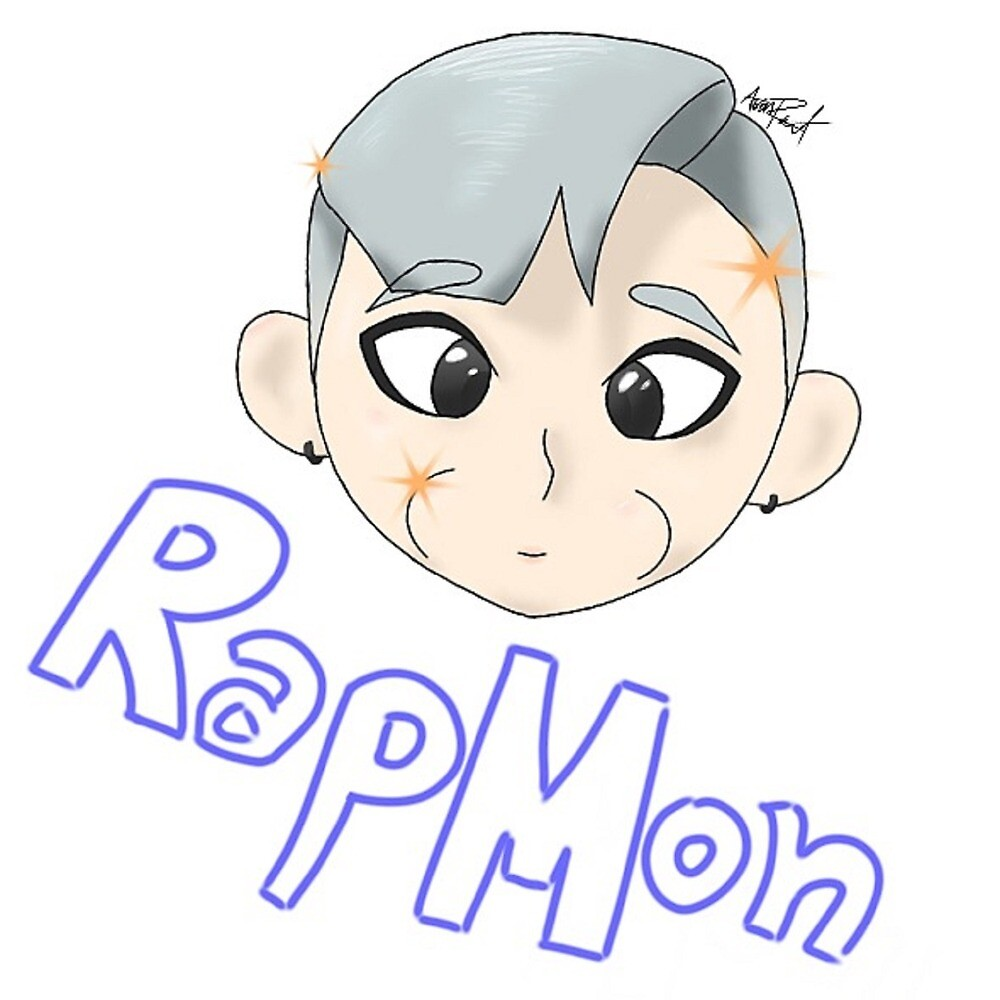 RapMon Sticker/Print/Tablet Case with Name by cosplayaoart