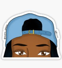 Snapbacks & Brown Eyes Sticker