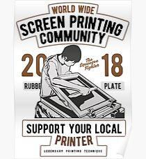 Screen Printing Community Poster