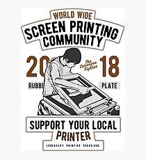 Screen Printing Community Photographic Print