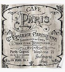 Paris Bistro Poster