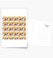 Glitchy Pattern Tile Postcards
