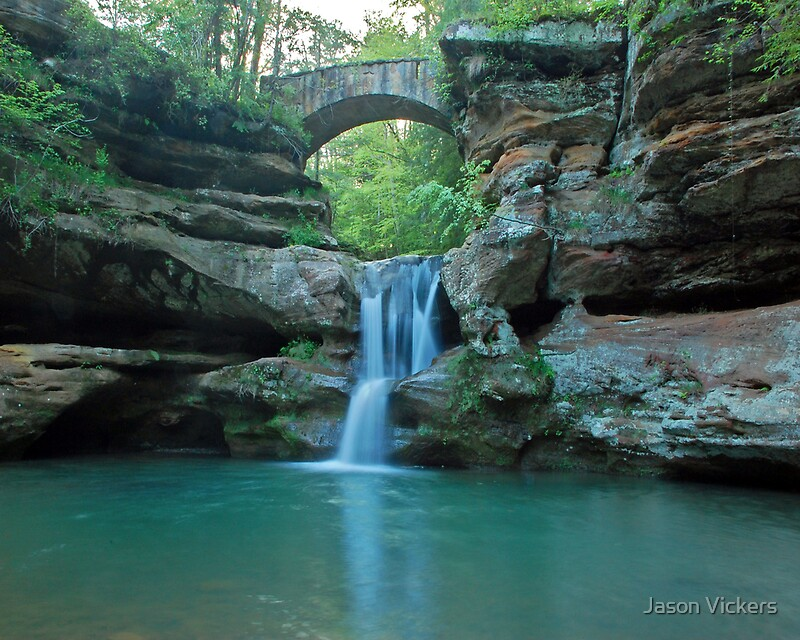 Quot Upper Falls Old Man S Cave Quot By Jason Vickers Redbubble