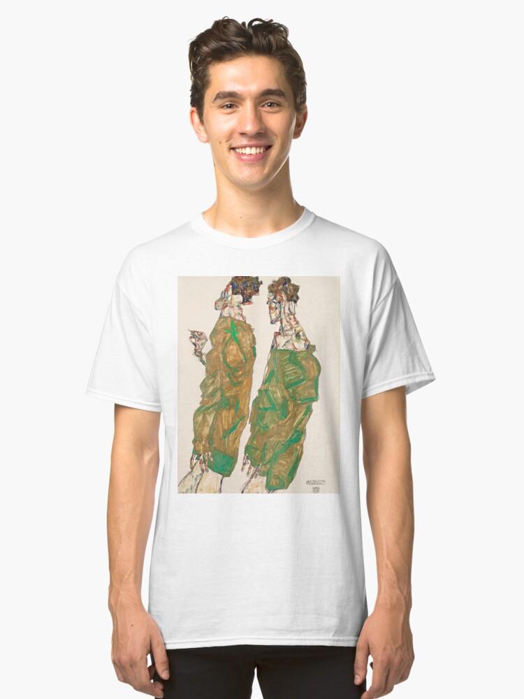 """Egon Schiele """"Devotion"""" Classic T-Shirt Front"""