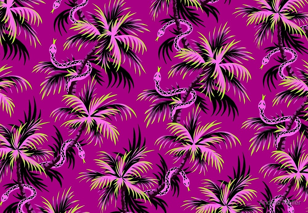 Snake Palms - Purple by Andrea Muller