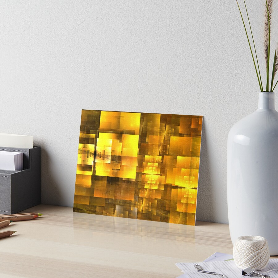 Golden Orange Cubist by KimSyOk