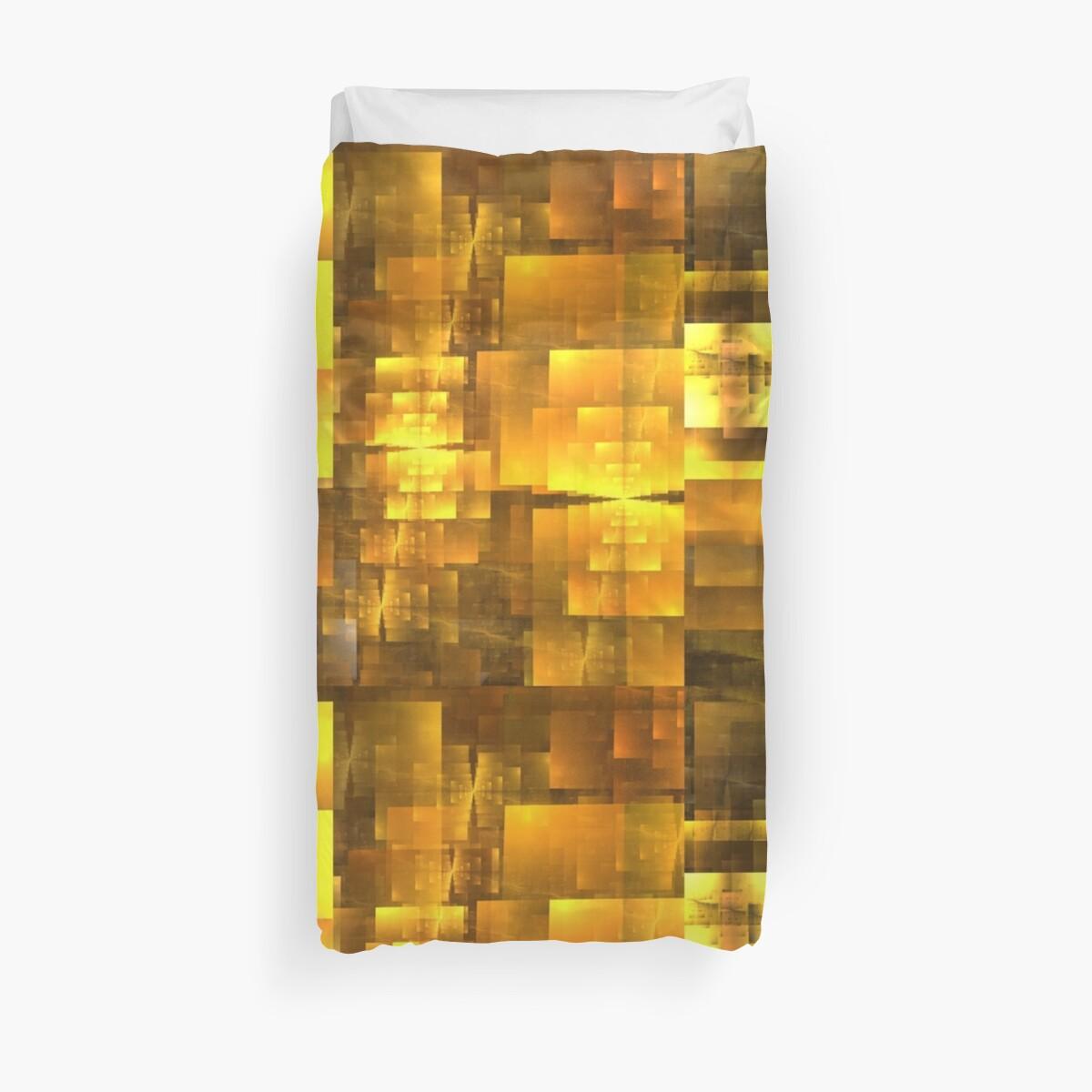 Golden Orange Cubist by KimSyOk