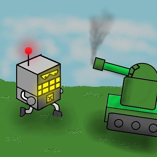 Robot-X fighting tank by goofyblocks