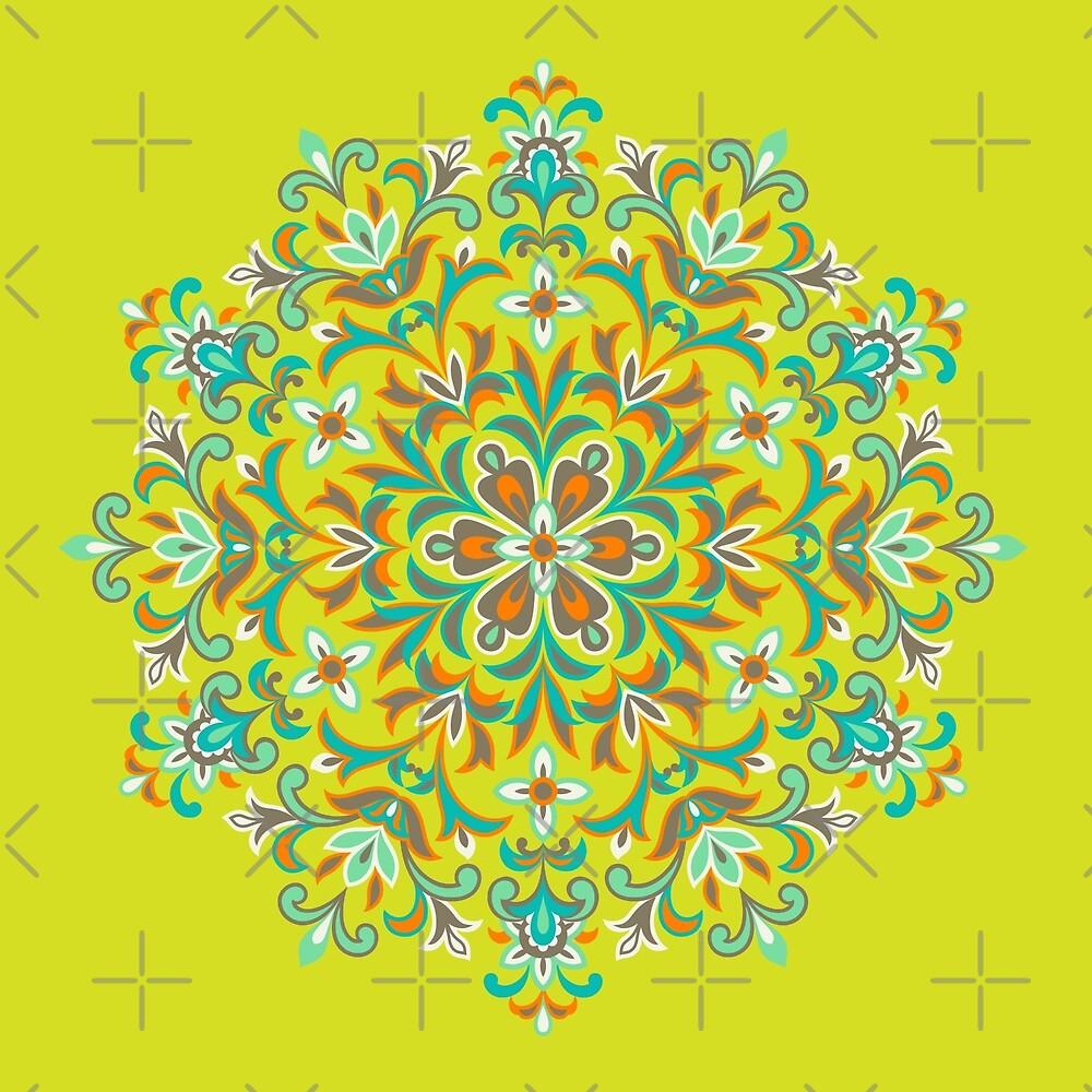 Colorful  Ethnic Floral Kaleidoscope by IcArtsyOrigin8