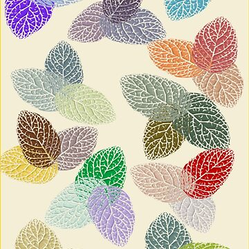 Coloured Leaf Pattern 2862 Views by aldona