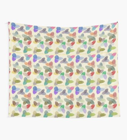 Coloured Leaf Pattern 2870 Views Wall Tapestry