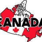 CANADA TRAVEL LUGGAGE STICKER by BYRON