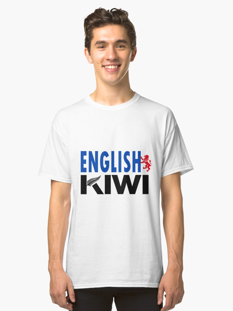 English Kiwi (for light backgrounds) Classic T-Shirt Front