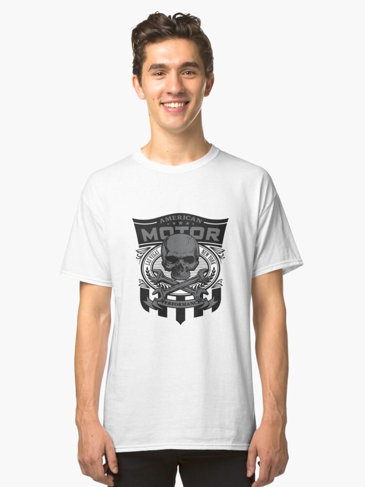 american motor skull Classic T-Shirt Front