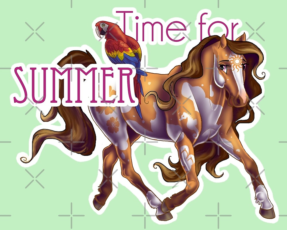 Time for Summer Horse by Unicornarama