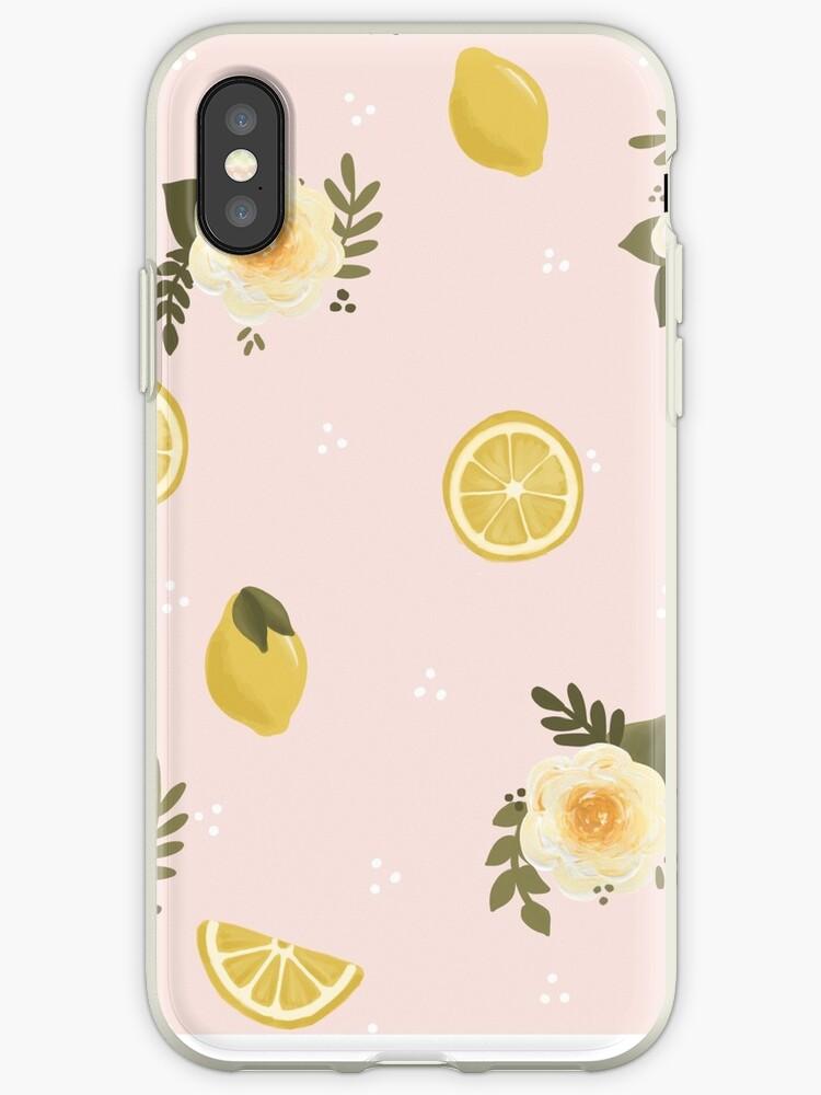 Floral + Lemon Print by ktscanvases