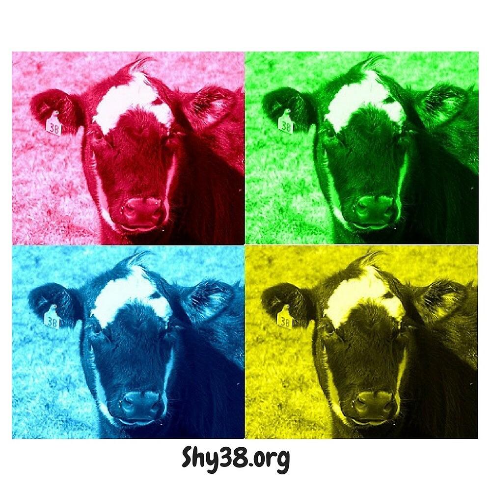 Shy 38 Pop Art Sticker by cattleonthehill