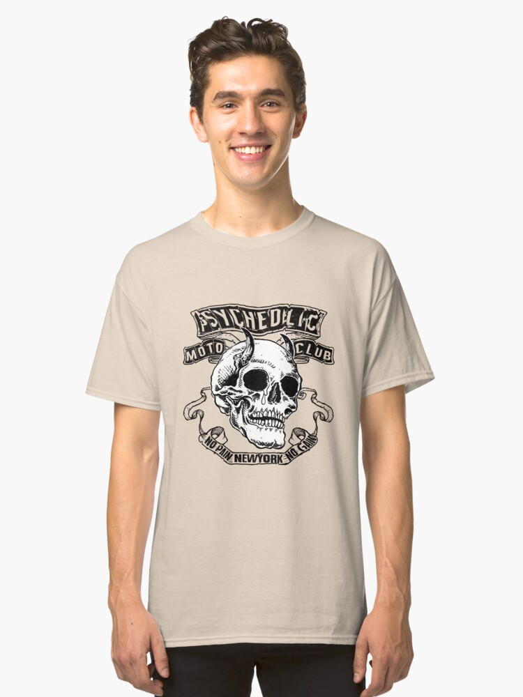 skull motorcycle Classic T-Shirt Front