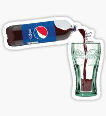Pepsi Bottle Coca Cola Glass  Sticker