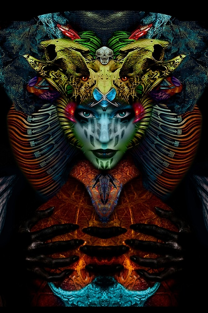 Sweet Horned Goddess by stevenhiggins59