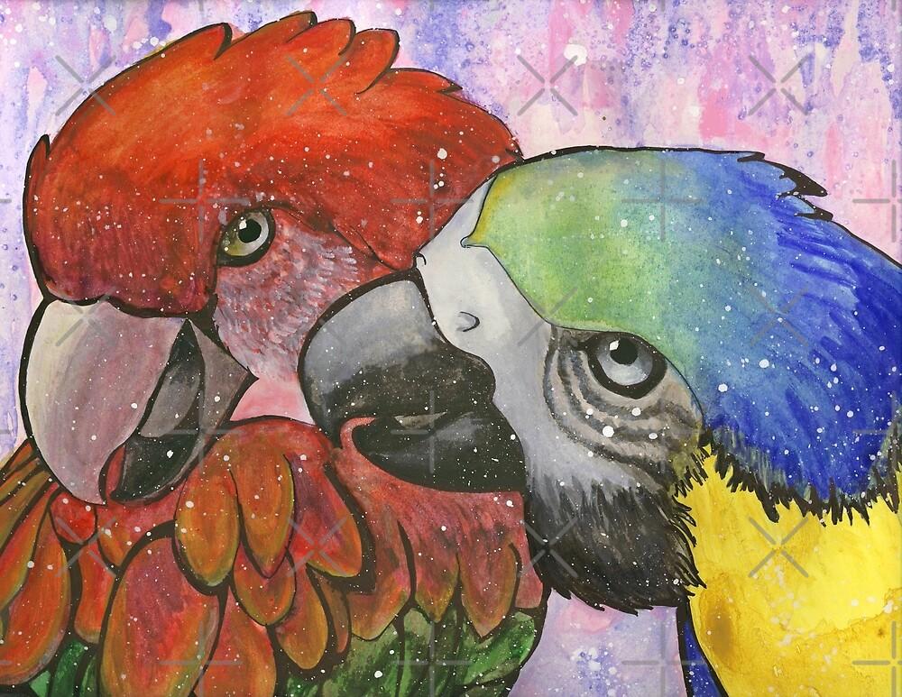 Snuggly Macaws by Unicornarama