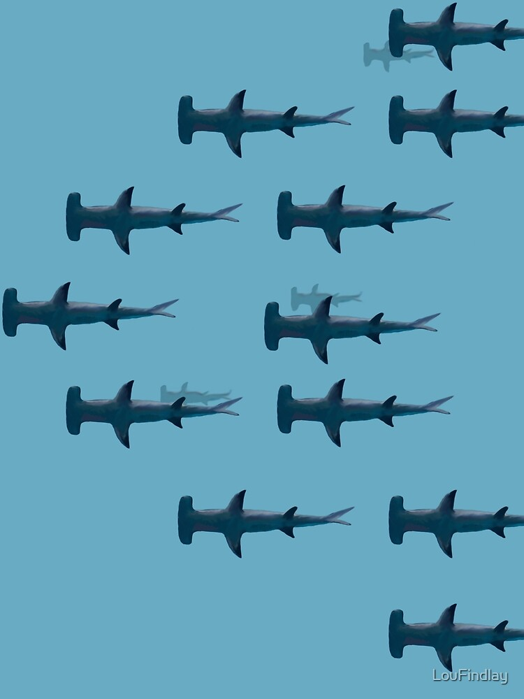 Hammerhead shark print-style pattern by LouFindlay