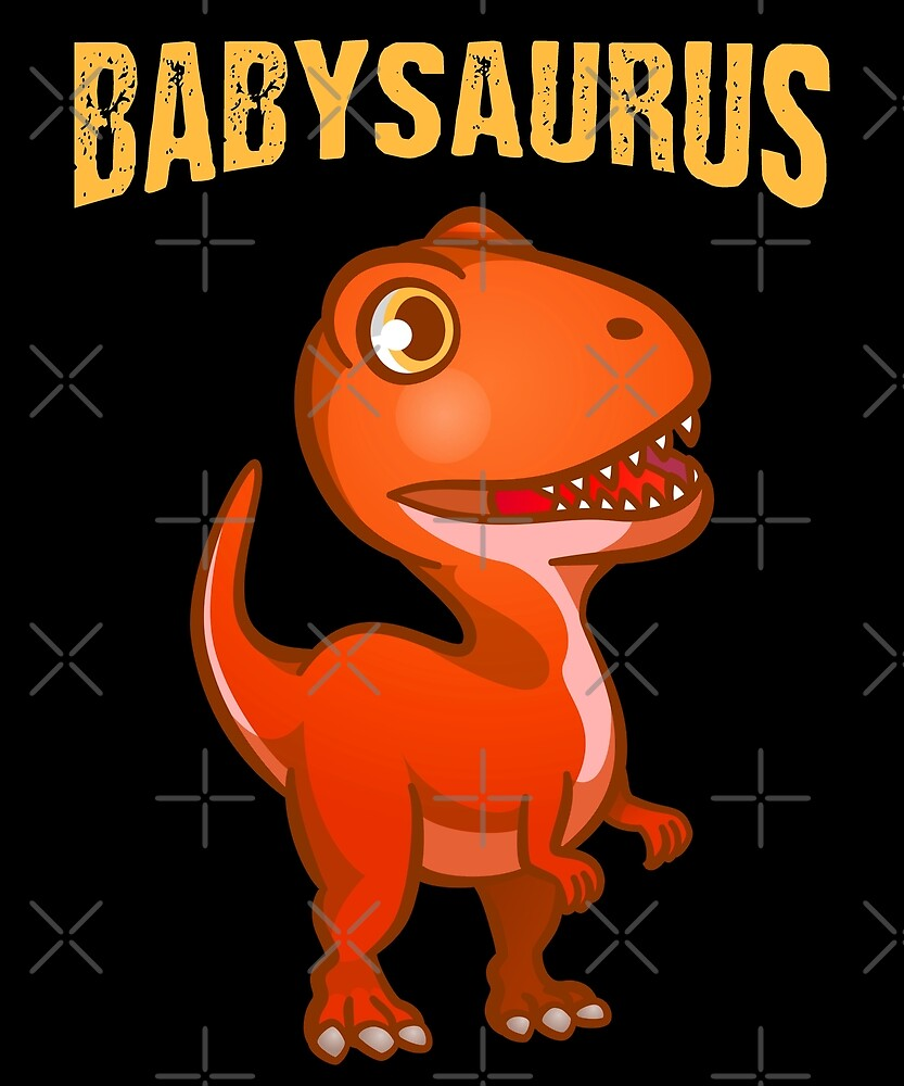 Babysaurus Little Baby Dino Cute Dinosaur New Family Gift by JapaneseInkArt