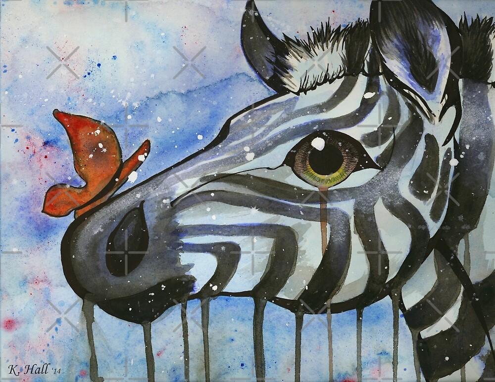 Zebra and Butterfly by Unicornarama