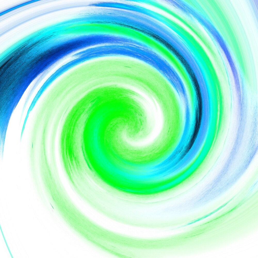 Blue and Green Watercolor by diram
