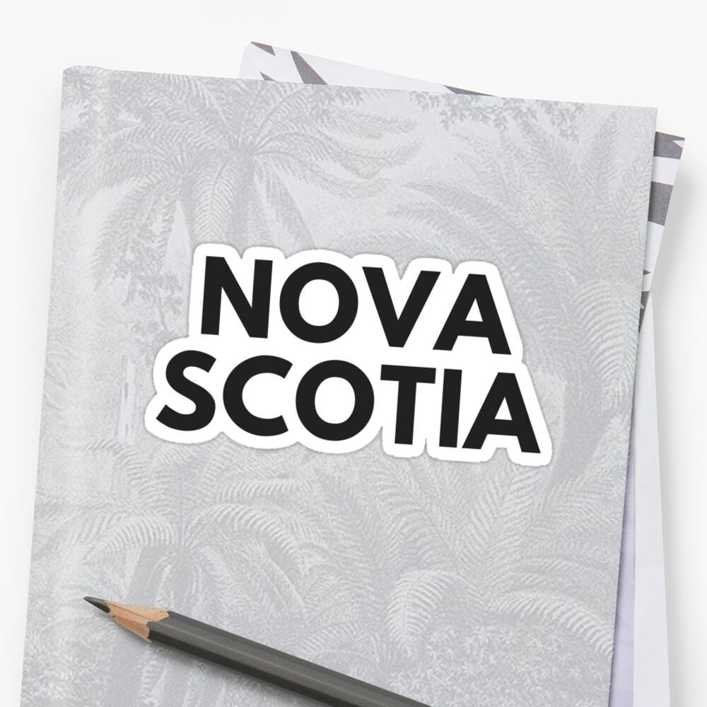 NOVA SCOTIA • BLACK • BOLD by kassander
