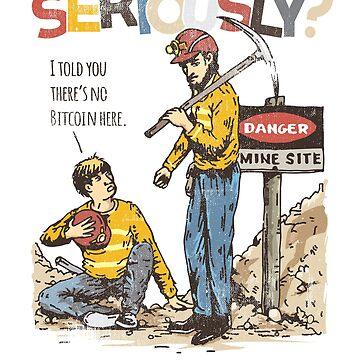 Funny Bitcoin Parody Shirt by Diardo